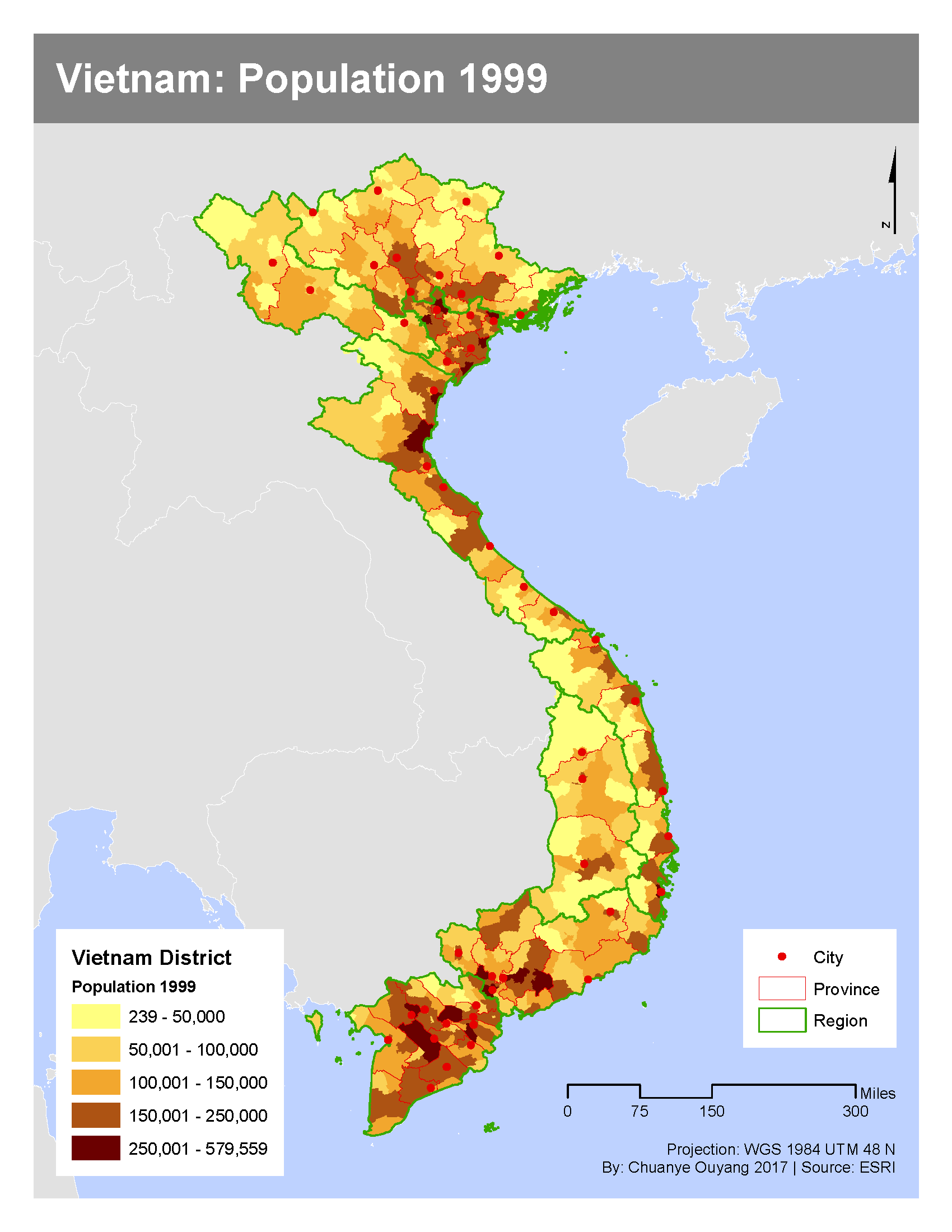 ArcGIS Map Showcase: My Project Work from Introduction to ... on